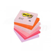 Bločky samolepiace Post-it Rainbow Happy 76x76mm 654-FLJO
