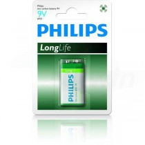 Batéria Philips Longlife 9V 6F22  ph9VLL