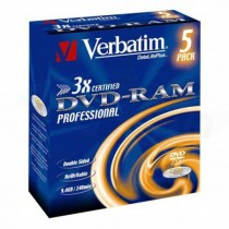 DVD-RAM Verbatim 9,4GB 3x jewel caseT4 / 5ks