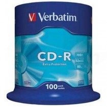 CD-R Verbatim 700MB 52x 100-pack Cake Extra Protection