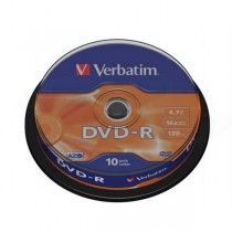 DVD-R Verbatim 4,7GB 16x 10ks cake box  ve43523