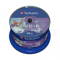 DVD+R Verbatim 4.7GB, 12cm, Professional, Advanced Azo+, Wide Printable