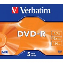 DVD-R Verbatim 4,7GB 16x jewel box  ve43519