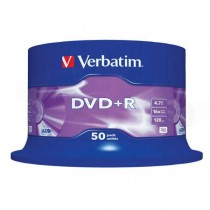 DVD+R Verbatim 4,7GB 16x Matte Silver, 50ks cake box  ve43550