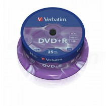 DVD+R Verbatim 4,7GB 16x 25ks cake box  ve43500