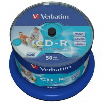 CD-R Verbatim 700 80min AZO Wide Inkjet Printable - no ID