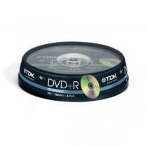 DVD+R TDK 4,7GB cake box, 16x, 10-pack