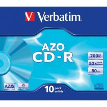 CD-R Verbatim 700MB DLP 52x, slim box 10-pack  ve43342
