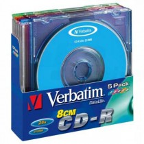 CD-R Verbatim 210MB 8cm 24x Mini Slim 5ks