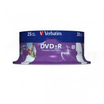 DVD+R Verbatim 4,7GB 16x Printable 25ks cake box  ve43539