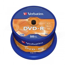 DVD-R Verbatim 4,7GB 16x 50ks cake box  ve43548