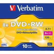 DVD+RW Verbatim 4,7GB 8x jewel case  ve43527