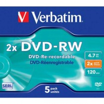 DVD-RW Verbatim 4,7GB 2x jewel case