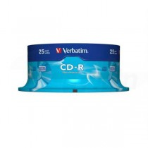 CD-R Verbatim 700MB 52x 25-pack cake box Extra protection  ve43432