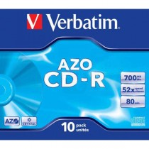 CD-R Verbatim 700MB 52x AZO Crystal jewel case  ve43327