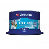 CD-R Verbatim 700MB 52x Printable 50-cake box  ve43309