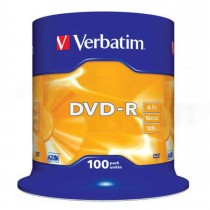 DVD-R Verbatim 4,7GB 16x 100ks cake box  ve43549