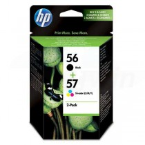 Toner HP No.56 + No.57, black/color, 520/500s, 2ks, HP 2-Pack, C6656 + C6657